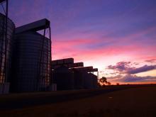 Silos Sunset